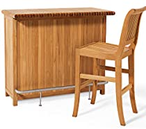Big Sale Best Cheap Deals New Grade A Teak Bar Cabinet (Chair shown in pictures not included)