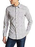 Diesel Camisa Hombre S-Zava (Blanco / Gris)