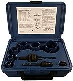 Disston E0103115 Boxed Blu-Mol Bi-Metal Hole Saw Kits, 9-Piece Electrician's Kit (metric)