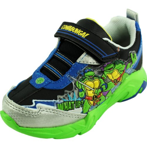 Teenage Mutant Ninja Turtles Light-Up Shoes Sneakers Blue/Green Velcro Boys Youth (Size 1) front-1070182