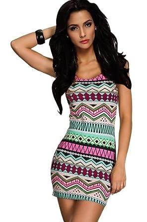Ninimour- Fashion Women's Summer Badycon Dress Casual Tank Dress (M, Hot Pink)