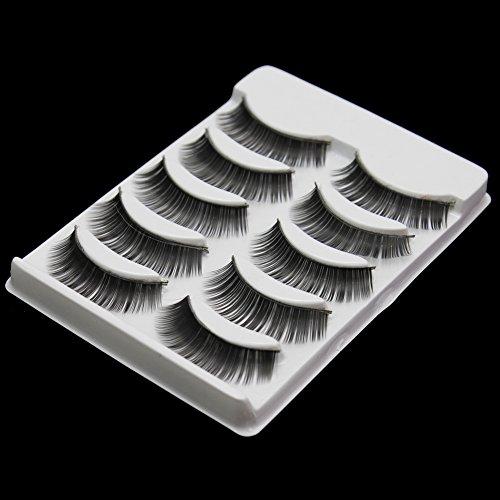 5 Paire Naturel Noir Faux Cil Extension épais Eyelash Volumineux Yeux Maquillage