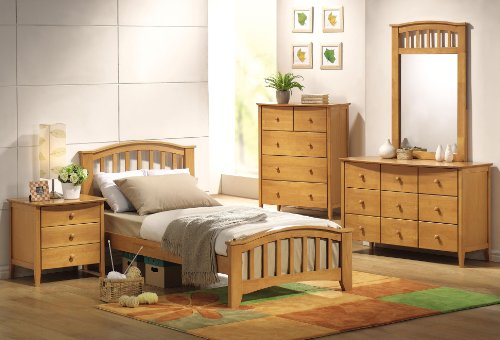 Acme San Marino Youth Slat Bedroom Set In Maple
