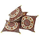 Ufc Mart Jaipuri Floral Print Cotton Cushion Cover Set, Color: Multi-Color, #Ufc00415