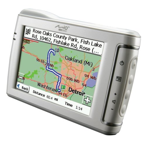 gps automotive reviews mio c310x 35inch portable gps