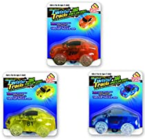 Mindscope Twister Tracks Trax Light-up LED 360 Sport Car Series (3 Vehicles in Giftable Retail Boxes) Compatible with all Twister Tracks & Neo Tracks
