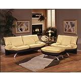 Princeton Leather Living Room Set Color: Navajo - Butter