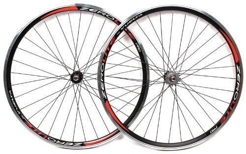 VUELTA ZEROLITE PRO TRACK 700c Wheelset Black Fixed Gear Fixie Wheels