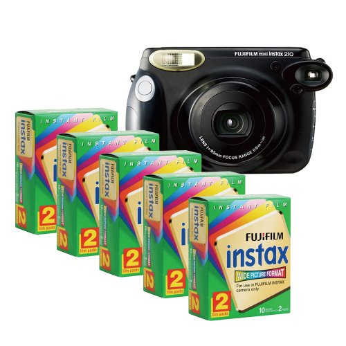 For Sale! Fujifilm INSTAX 210 Instant Photo Camera Kit with 5 Twin Pack of INSTAX Film