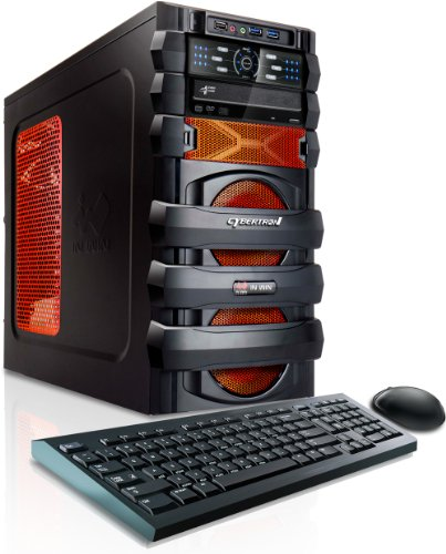 CybertronPC 5150 Escape GM4222E Gaming Desktop (Black/Orange)