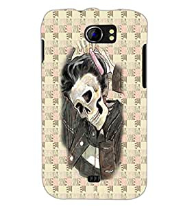 PrintDhaba Funny Image D-3746 Back Case Cover for MICROMAX A110 CANVAS 2 (Multi-Coloured)