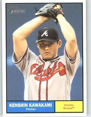 2010 Topps Heritage Baseball Card # 458 Kenshin Kawakami (Short Print) Atlanta Braves - MLB Trading Card