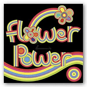 """Flower Power by Mali Nave 12""""x12"""" Art Print Poster"""