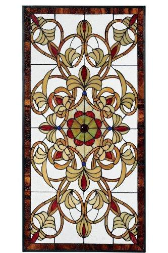 Signet Large Rectangular Tiffany-Style Stained Art Glass Window Panel large rectangul Multi