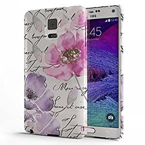 Koveru Back Cover Case for Samsung Galaxy Note 4 - Watercolor Floral Quartet