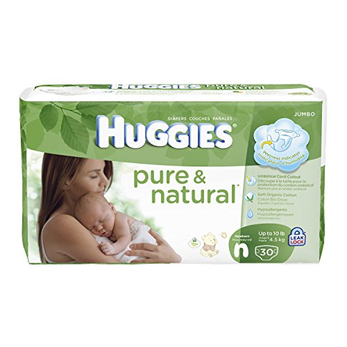 Huggies Pure and Natural Diapers, Newborn, 30 Count