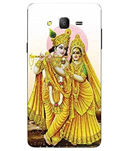 Case Cover Radhey Krishna Printed White Soft Back Cover For Samsung Galaxy On7