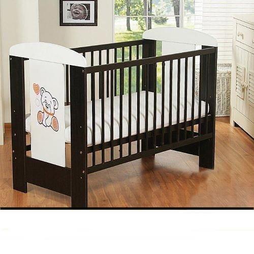 Best-For-Kids-Gitterbett-My-Sweet-Baby-mit-neuer-10-cm-Matratze-aus-Schaumstoff-TV-Zertifiziert-Geprft-Kinderbett-Babybett-braun-4-Teile-120x60