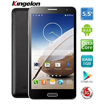 "Product Specifications:  Brand: KINGELON Screen Size: 5.5"" Screen Material: AMOLED Screen Type: Capacitive, qHD, 540P Shell Material: Plastic Style: Touch Screen Phone Color: White Unlocked: Yes (without contract) Standby: 2 SIM 2 Standby SIM Card: M..."