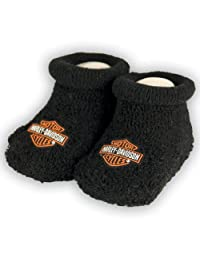 Harley-Davidson Boys Baby Booties Boxed Black