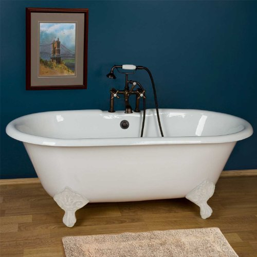 60 Sanford Cast Iron Clawfoot Tub   Brushed Lowest!   Bathtub KOHLER