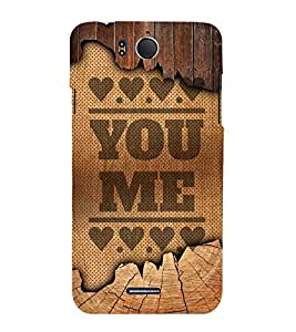 You Love Me Design 3D Hard Polycarbonate Designer Back Case Cover for InFocus M530