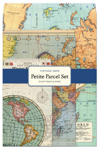 Cavallini 12-Pack Petite Vintage Maps Parcel Set (Vintage Map Paper compare prices)