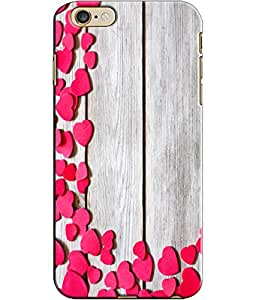 EU4IA Cute Pink Hearts Pattern MATTE FINISH 3D Back Cover Case For iPhone 6 -...