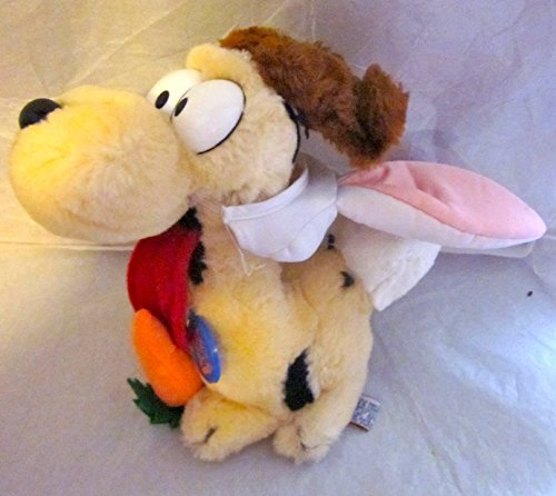 "1983 Dakin Garfield ODIE with Easter Bunny Ears and Tail 8"" Plush"