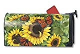 Sunny Monarchy Butterflies Large Spring Summer Mailbox Cover Oversized Mailwrap