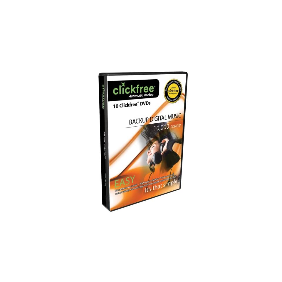 Clickfree Automatic Backup DVD Music Edition DVD200 10, 10
