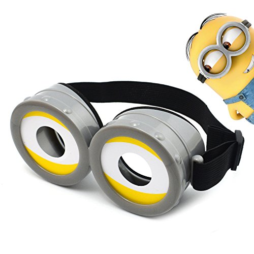 iLToy Minions Goggles Mask Glasses with Strap - Despicable Me Cosplay Costume for Child or Adult (Yellow)
