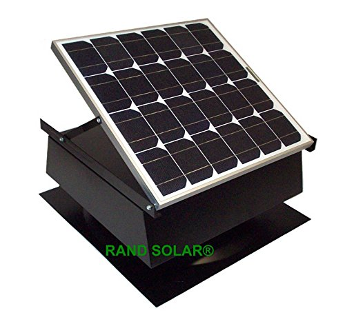 Rand Solar Powered Attic Fan-30 Watt-w Roof Top Ventilator With Thermostat (Solar Fan Roof compare prices)