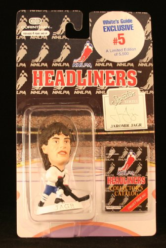JAROMIR JAGR / NHLPA (WHITE'S GUIDE EXCLUSIVE #5) 1996 NHL Headliners Hockey Collector * 3 INCH * Figure
