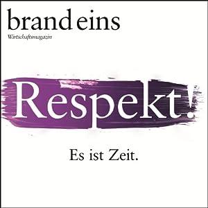 brand eins audio: Respekt Audiomagazin