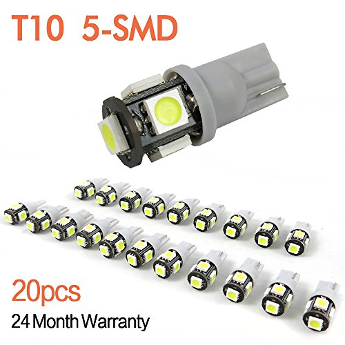 Generic 2014 Newest, 4Th Generation, 20Pcs ,W5W 194 168 2825 T10 Wedge 5-Smd 5050 White High Power Car Led Lights Bulb,Brighter,Green Energy, Lower Heat, Eco-Friendly,Better Quality,Longer Life
