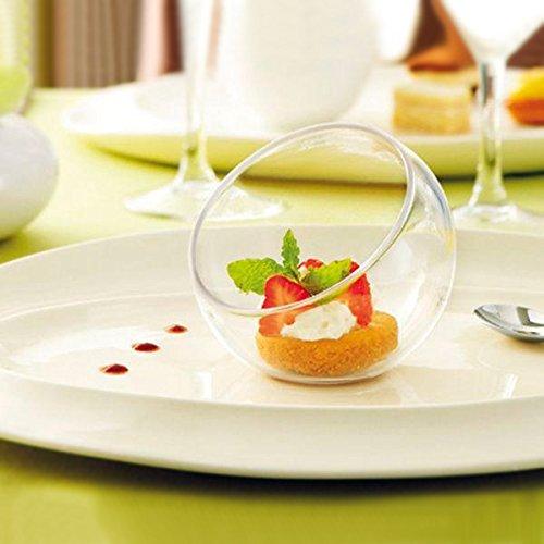 Polyvalent Mini Bol à Dessert/1,4 g - 40 ml Lot de 12 crème-Sorbet GLACE bols, assiettes à Dessert, bols apéritif