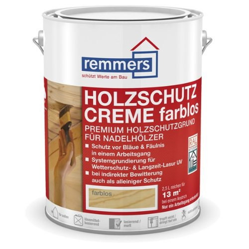 Remmers Holzschutz-Creme farblos - 5 Liter