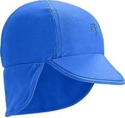 Coolibar UPF 50+ Baby Splashy All Sport Hat - Sun Protective (12-24 Months - Baja Blue)