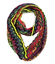 Modadorn New Arrivals Fall to Winter Multi-Chevron Infinity Scarf Purple