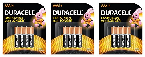 Duracell Alkaline Battery AAA With Duralock Technology (12 Pieces)