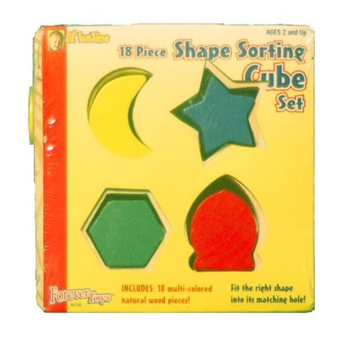 Lil' FunTime 18 Piece Shape Sorting Cube Set - 1