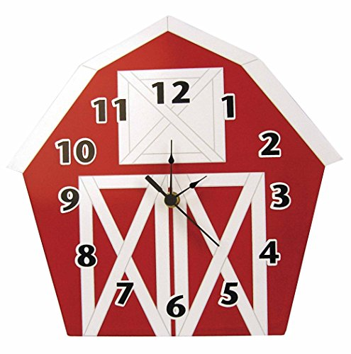 Trend Lab Baby Barnyard Wall Clock, Barn - 1