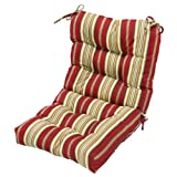 Greendale Home Fashions Outdoor Seat/Back Chair Cushion, Roma Stripe