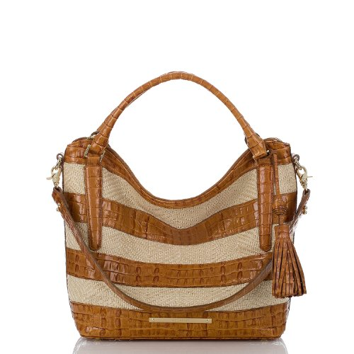 Norah Hobo Bag - Raffia Vineyard Whiskey