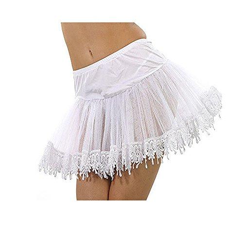Mid-Length Teardrop Lace Petticoat Costume Accessory - One Size - Dress Size 6-12