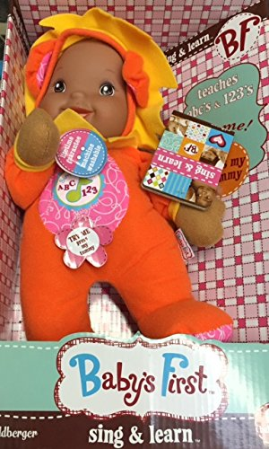 Baby's First Baby Safe Sing & Learn ABCs & 123s 11 inch machine washable Doll - 1
