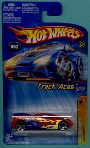 Mattel Hot Wheels 2005 First Editions 1:64 Scale Track Aces Red Backdraft Die Cast Car #062 - 1