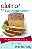Glutino Gluten Free Pantry Favorite Sandwich Bread Mix, 22-Ounce Boxes (Pack of 6)