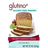 Glutino Gluten Free Pantry Favorite Sandwich Bread Mix, 22-Ounce Boxes (Pack of 6) ~ Glutino Gluten Free...
